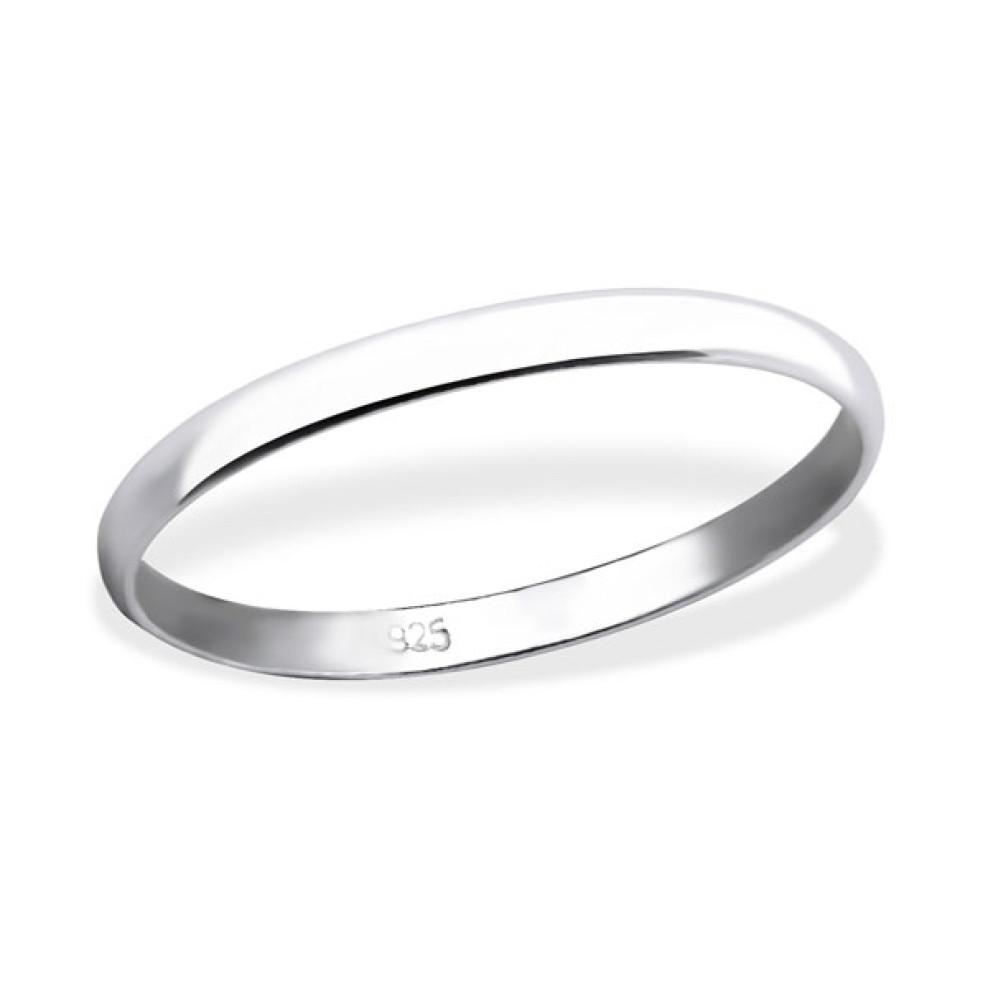 Sterling Zilveren 925 Ring 2 Mm Breed Aanschuifring Maat 16 5 Per Stuk