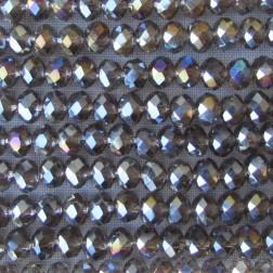 Swarovski-Style Kristalkraal, Greige, facetted, rondel, 3 x 4 mm, per streng