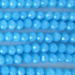 Swarovski-Style Kristalkraal, Aquamarijn, facetted, rondel, 3 x 4 mm, per streng