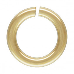 14 K Gold Filled Ring, OPEN, 3 x 0.5 mm, per stuk