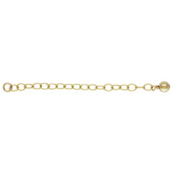 14 K Gold Filled Verlengketting met 4 mm bal, per stuk