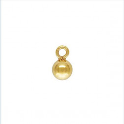 14 K Gold Filled Bedel, bol, 3 mm, per stuk