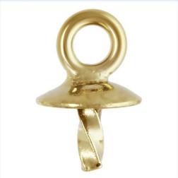 14 K Gold Filled Bail, cup 3 mm, per stuk