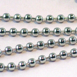 Edelstaal (316) RVS bolletjesketting, 3 mm,  verpakt per meter