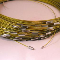 Spang, RVS, 52 cm, okergeel