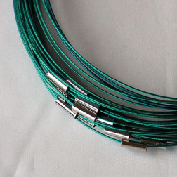 Spang, RVS, 45 cm, turquoise, magneetslot