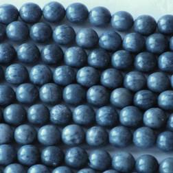 Koraal, blauw, 10 mm, per streng