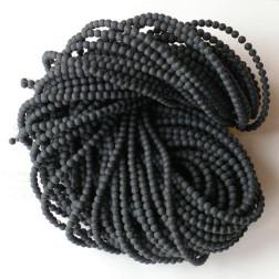 Onyx, 4 mm, mat, verpakt per streng