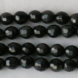 Onyx, 6 mm, gefacetteerd, verpakt per streng