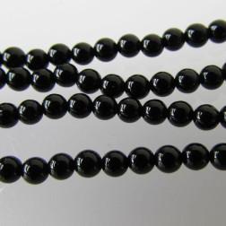 Onyx, 2 mm, rond, verpakt per streng