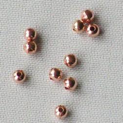 Roze goud kraal, 2 mm, per 10 stuks