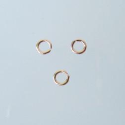 Roze gouden ring, 3 mm, open, verpakt per stuk
