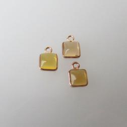 Roze gouden bedeltje, 6-6.5 mm, CITRIEN, per stuk