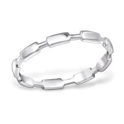 Sterling zilveren (925) ring, aanschuifring, maat 16.5