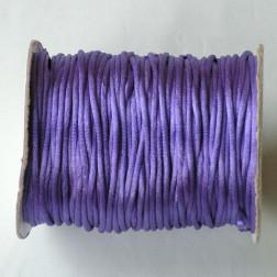 Satijnkoord, paars, 2 mm, per 90 meter