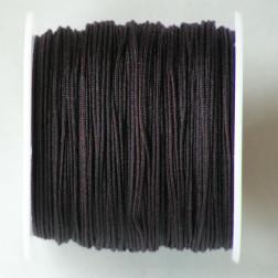 Satijnkoord, bruin, 1 mm, per 90 meter