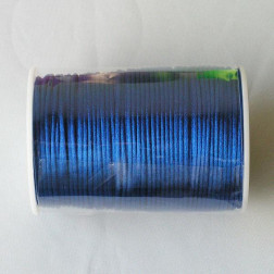 Satijnkoord, koningsblauw, 2 mm, per 90 meter