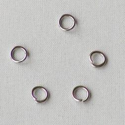 Edelstalen RVS ring (316), 5 x 0.8 mm, open, verpakt per 20 stuks