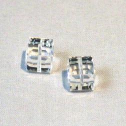 Swarovski® kubus kraal, 8 x 8 x 8 mm, Crystal, verpakt per stuk