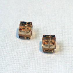 Swarovski® kubus kraal, 8 x 8 x 8 mm, Light Colorado Topaz, verpakt per stuk