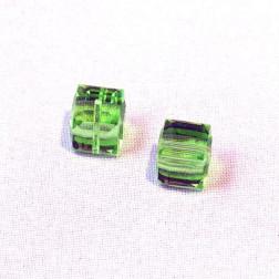 Swarovski® kubus kraal, 8 x 8 x 8 mm, Peridot, verpakt per stuk