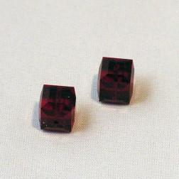 Swarovski® kubus kraal, 8 x 8 x 8 mm, Dark Siam, verpakt per stuk