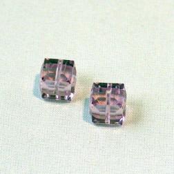 Swarovski® kubus kraal, 8 x 8 x 8 mm,  Light Amethist, verpakt per stuk