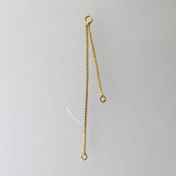 22 K Goud vermeil threader hanger, 1 micron plated, per stuk