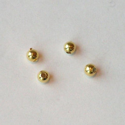 22 K Goud vermeil kraal, 3 mm, verpakt per stuk