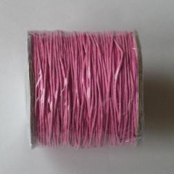 Waxkoord, roze, 1 mm, per 95 meter