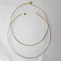 Spang- beadable, 46 cm, goudkleurig, 1.2 mm dik, verpakt per stuk