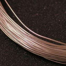 Sterling zilveren (925) draad, 0.8 mm (20 gauge), half hard, per meter