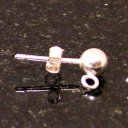 Sterling zilveren (925) oorsteker, verpakt per paar