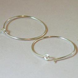 Sterling zilveren (925) oorring, 25 mm, verpakt per paar