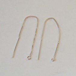 Sterling zilveren (925) lange Threader, 80 mm,  per paar