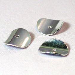 Sterling zilveren schijfje,  glanzend, Ø 12  mm, verpakt per stuk