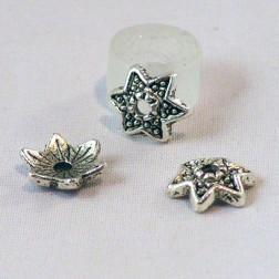 Zilverkleurig kralenkapje, 9 mm, verpakt per 50 stuks